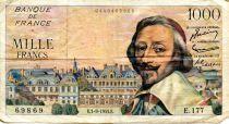 France 1000 Francs Richelieu - 01-09-1955 Série E.177 - TB+