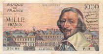 France 1000 Francs Richelieu - 01-10-1953 Série P.13 - TTB