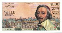 France 1000 Francs Richelieu - 02-11-1956 Série N.292