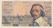 France 1000 Francs Richelieu - 02-12-1954 Série N.88