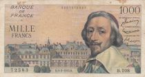 France 1000 Francs Richelieu - 03-02-1955 Série B.108 - TB