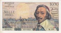 France 1000 Francs Richelieu - 03-03-1955 Serial M.120