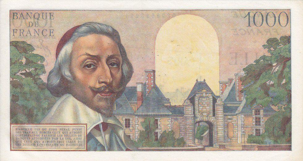 France 1000 Francs Richelieu - 03-03-1955 Série M.120