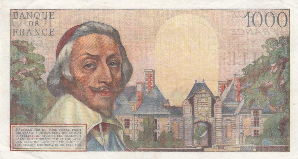 France 1000 Francs Richelieu - 03-11-1955 Série O.195
