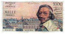France 1000 Francs Richelieu - 04-10-1956 Série X.285 - TB+