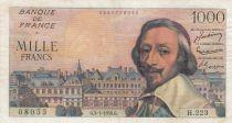 France 1000 Francs Richelieu - 05-01-1956 Serial H.223 - VF