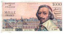 France 1000 Francs Richelieu - 06-12-1956 Serial X.294 - F+