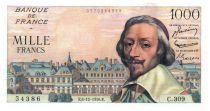 France 1000 Francs Richelieu - 06-12-1956 Série C.309 - TTB