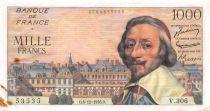France 1000 Francs Richelieu - 06-12-1956 Série V.306 - TB+