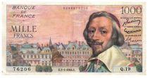France 1000 Francs Richelieu - 07-01-1954 Serial Q.19 - VF