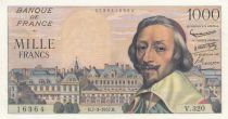 France 1000 Francs Richelieu - 07-03-1957 - Série V.320 - SUP+