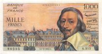 France 1000 Francs Richelieu - 07-03-1957 Serial S.315 - VF+
