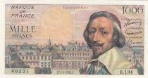 France 1000 Francs Richelieu - 07-04-1955 Serial B.134