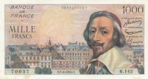 France 1000 Francs Richelieu - 07-04-1955 Serial R.142 - XF