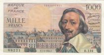 France 1000 Francs Richelieu - 07-04-1955 Série B.134