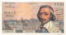 France 1000 Francs Richelieu - 07-04-1955 Série N.132 - TTB+