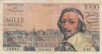 France 1000 Francs Richelieu - 07-10-1954 Série K.82 - TTB
