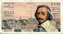 France 1000 Francs Richelieu - 07-10-1954 Série P.70 - TB+