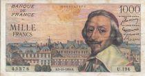 France 1000 Francs Richelieu - 1955 - Serial -  U.194