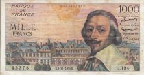 France 1000 Francs Richelieu - 1955 - Série U.194