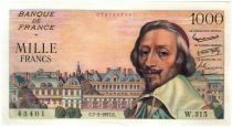 France 1000 Francs Richelieu - 1957