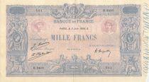 France 1000 Francs Rose et Bleu - 03-06-1926 - Série H.2418 - TB