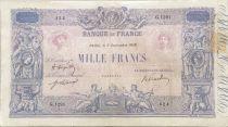 France 1000 Francs Rose et Bleu - 03-09-1919 - Série G.1291 - TB+