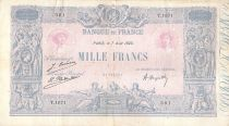 France 1000 Francs Rose et Bleu - 07-08-1923 - Série T.1671 - TB