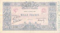 France 1000 Francs Rose et Bleu - 08-02-1926 - Série E.2149 - TTB
