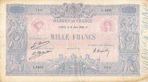 France 1000 Francs Rose et Bleu - 08-06-1926 - Série L.2436 - TB+
