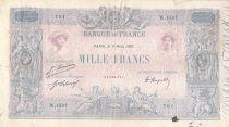 France 1000 Francs Rose et Bleu - 09-03-1921 - Série W.1537 - TB