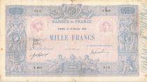 France 1000 Francs Rose et Bleu - 10-02-1910 - Série Y.687 - TB+