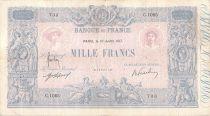 France 1000 Francs Rose et Bleu - 10-07-1917 - Série C.1083 - PTTB