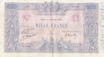 France 1000 Francs Rose et Bleu - 10-10-1923 - Série O.1725