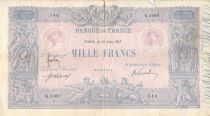 France 1000 Francs Rose et Bleu - 13-06-1917 - Série Q.1060 - B+