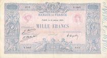 France 1000 Francs Rose et Bleu - 14-01-1925 - Série E.1827 - PTTB