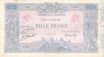 France 1000 Francs Rose et Bleu - 14-08-1923 - Série J.1677 - TTB