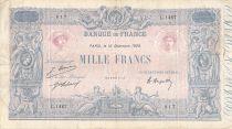 France 1000 Francs Rose et Bleu - 15-12-1920 - Série L.1467 - PTTB