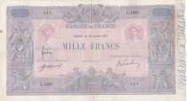 France 1000 Francs Rose et Bleu - 16-07-1917 - Série L.1087 - TB+