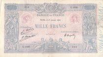 France 1000 Francs Rose et Bleu - 17-01-1925 - Série U.1820 - TB