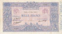 France 1000 Francs Rose et Bleu - 17-07-1926- Série F.2555 - TTB / TTB+