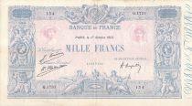 France 1000 Francs Rose et Bleu - 17-10-1923 - Série Q.1731 - TB+