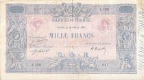 France 1000 Francs Rose et Bleu - 18-02-1921 - Série E.1521 - TTB