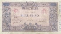 France 1000 Francs Rose et Bleu - 18-08-1917 - Serial D.1115 - F+