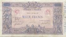 France 1000 Francs Rose et Bleu - 18-08-1917 - Série D.1115 - TB+