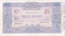 France 1000 Francs Rose et Bleu - 1915 H.909
