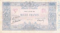 France 1000 Francs Rose et Bleu - 20-05-1925 - Série C.1934 - PTTB