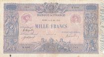 France 1000 Francs Rose et Bleu - 21-05-1919 - Série B.1206 - TB