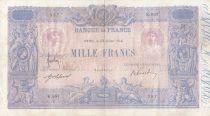 France 1000 Francs Rose et Bleu - 23-07-1914 - Série K.897