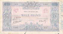 France 1000 Francs Rose et Bleu - 23-12-1924 - Série Y.1810 - PTTB